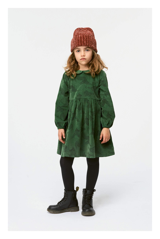 Cybilla Swan Dance Grön sammets klänning med svanar. Molo