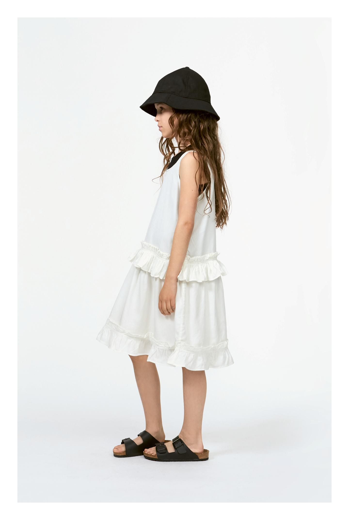 Charlotte White Star Vit draperad klänning Molo