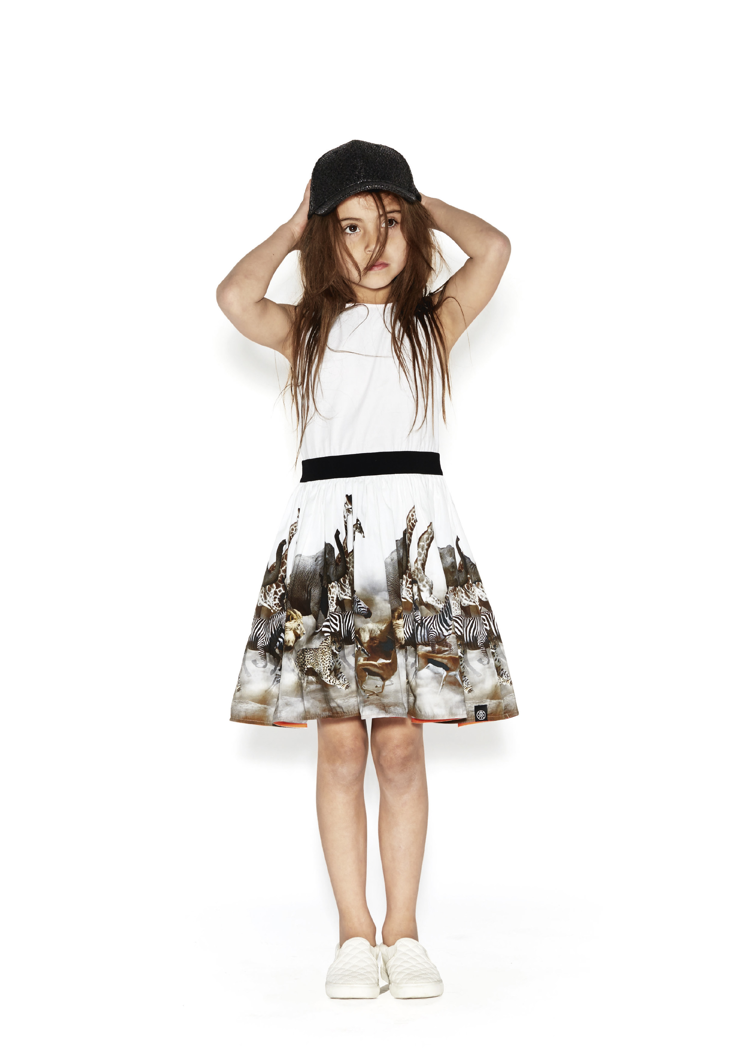 White Dress Running Carli Molo Animal With Wild Print qzEwt