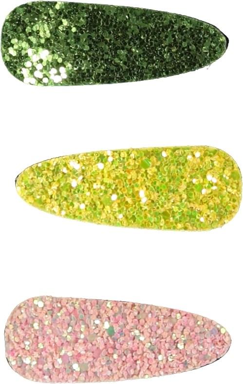 Glitter Buckles - Cameo Rose - Glitter hårspännen.