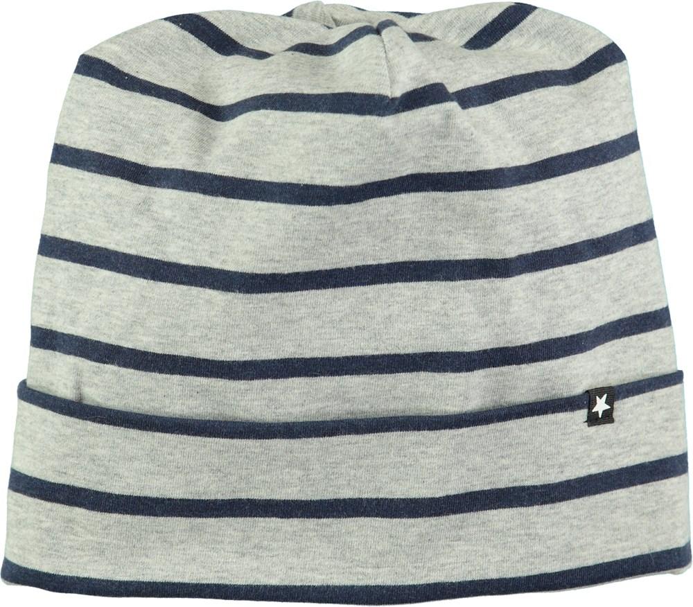 Nico - Infinity Stripe - Grå mössa med blå ränder