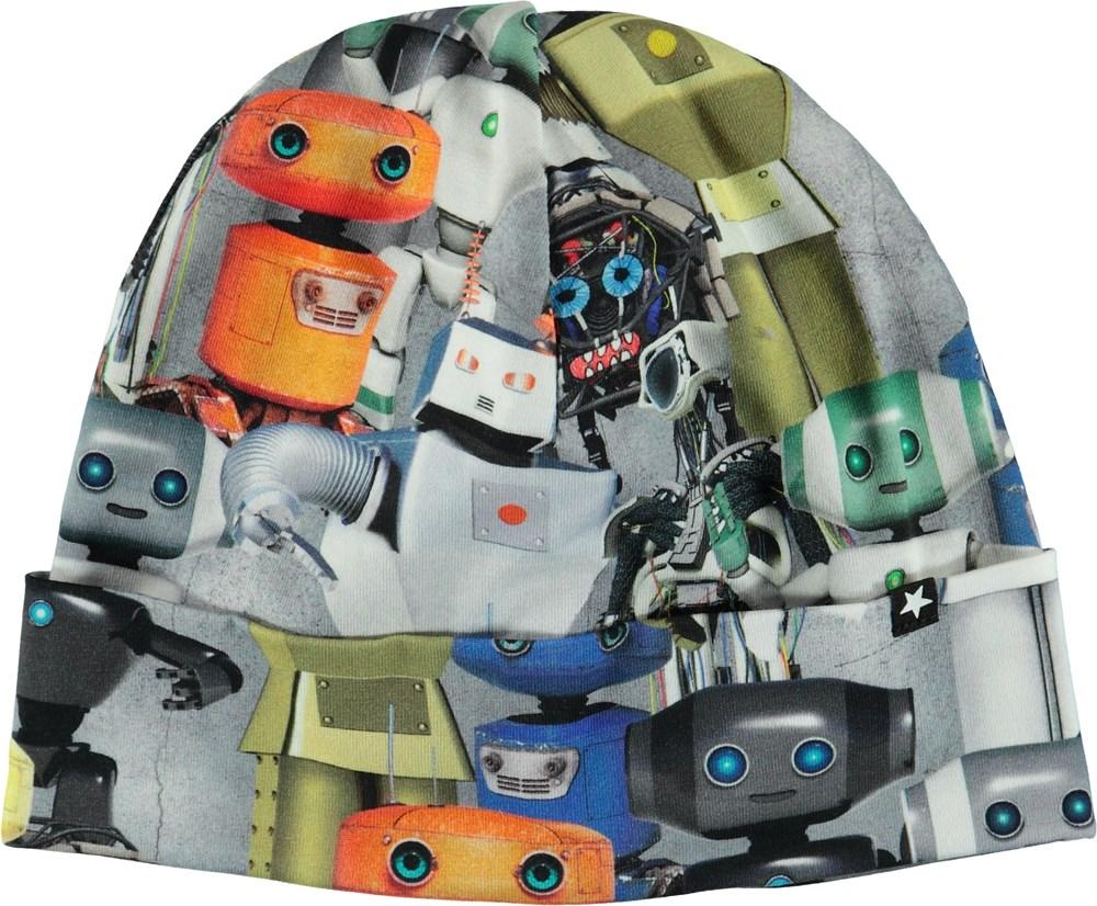 Nico - Robots - Mössa med uppvik och tryck av robotar.