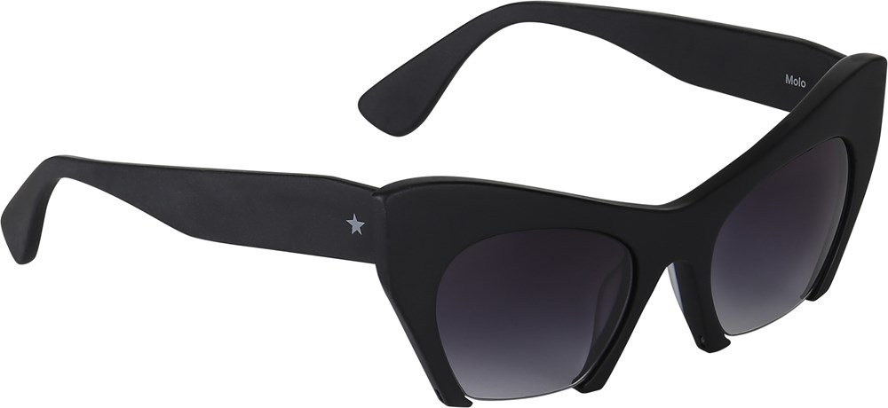 See - Black - svarta cateye solglasögon