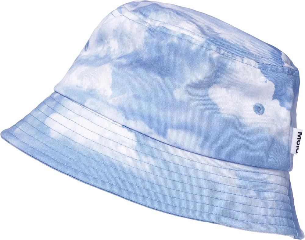 Siks - Clouds - Bucket hatt med blå och gult batikmönster