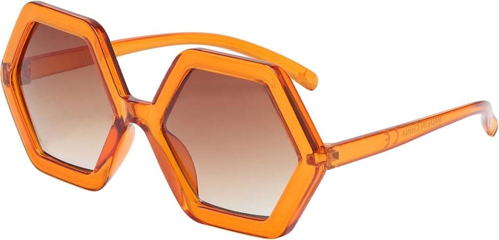 Skyla - Mango - Kantiga orangea solglasögon
