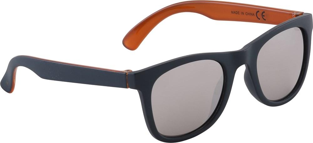 Smile - Blue Dive - Mörkblå solglasögon med bruna inre