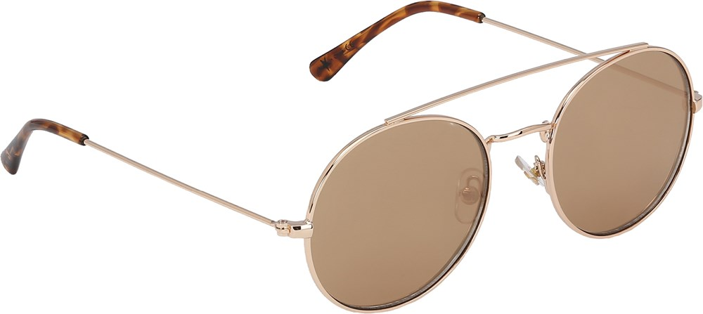 Suri - Gold - Retro solglasögon