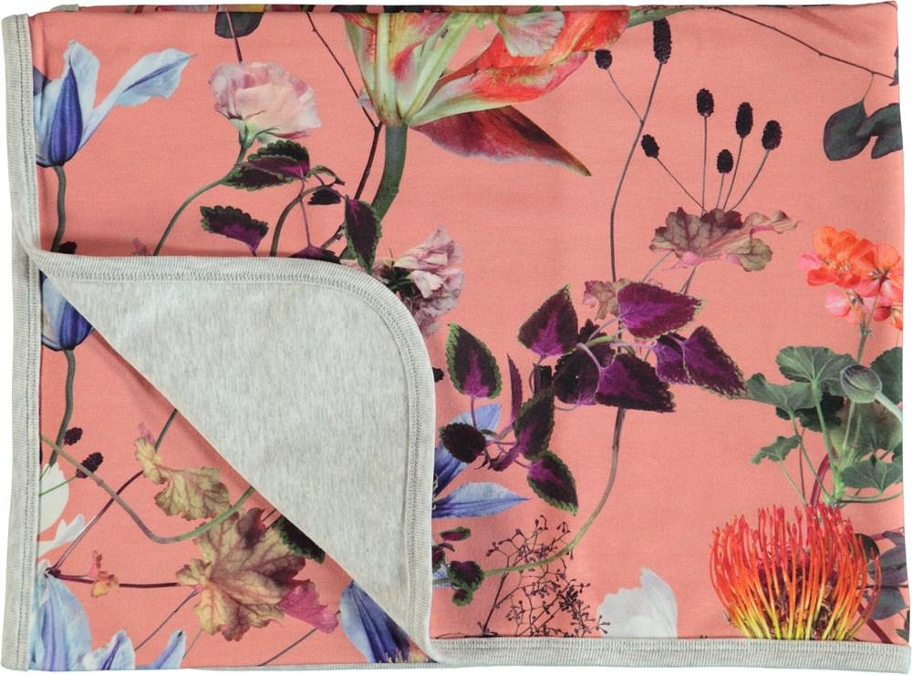 Neala - Flowers Of The World - Blommig filt i bomull.