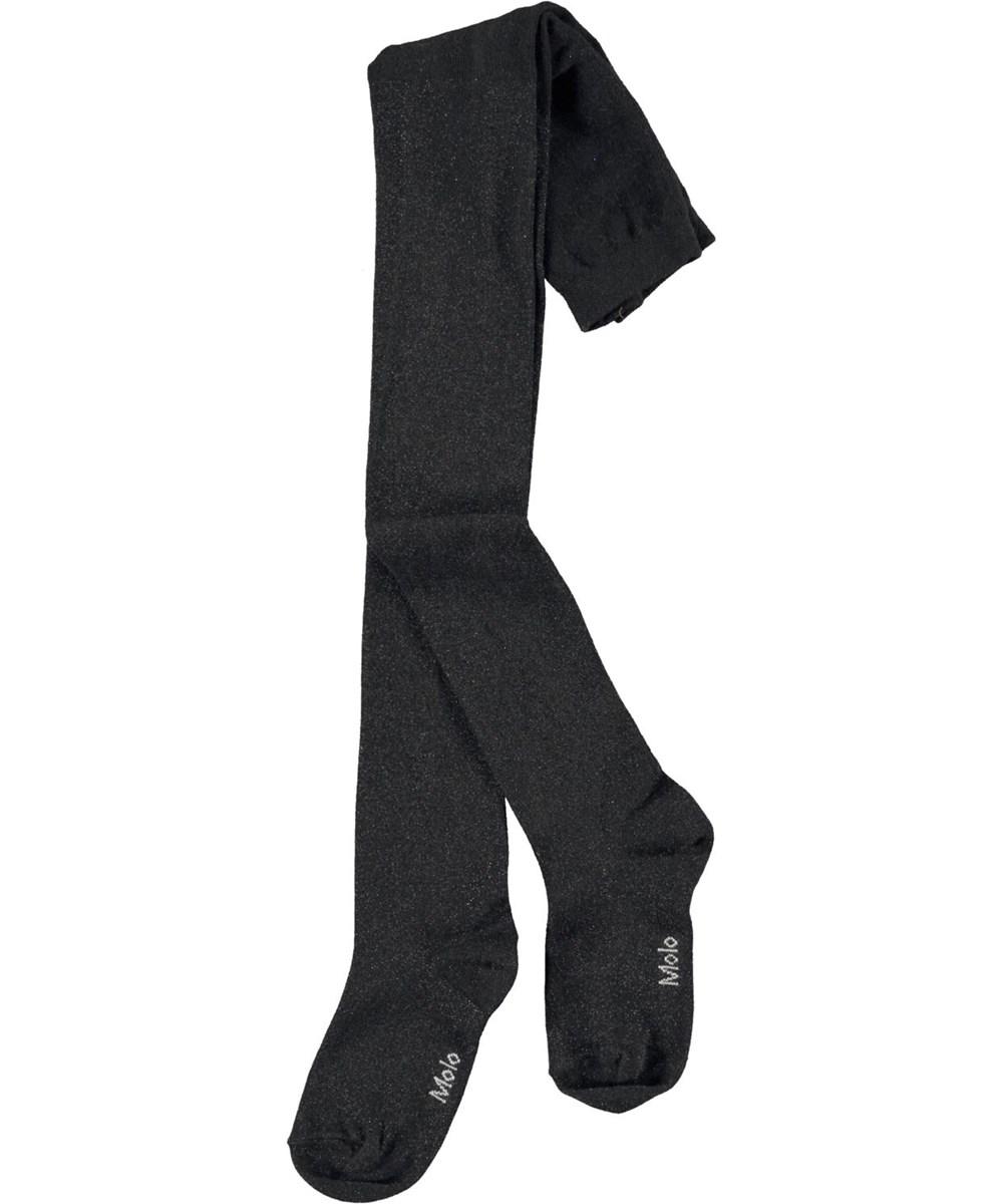 Glitter Tights - Black - Svarta glittriga tights