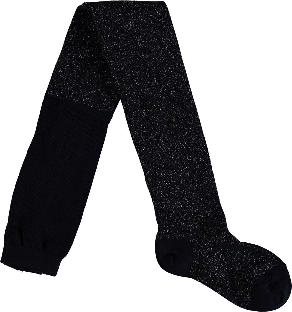 Glitter tights - Sky Captain - Svarta strumpbyxor med glitter.