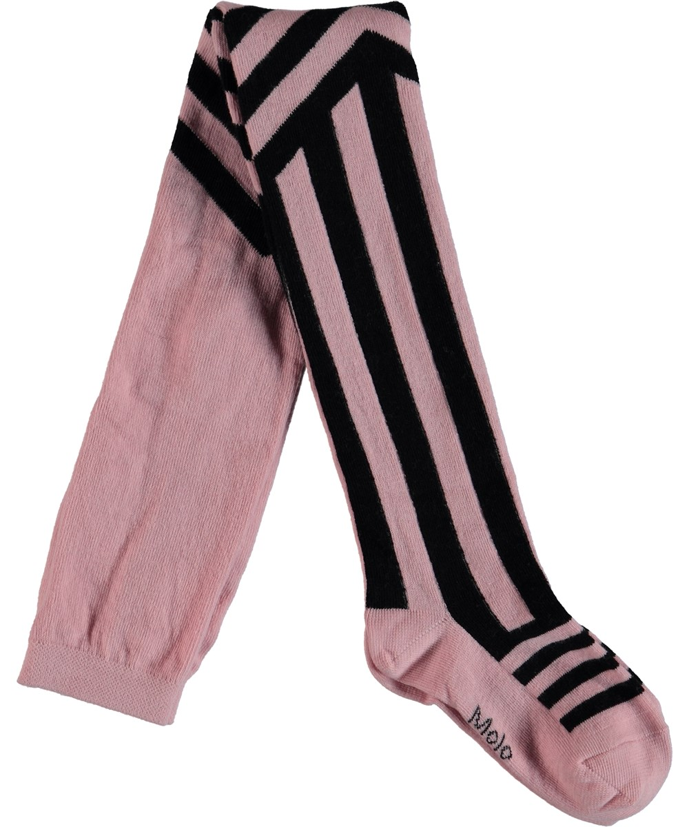 Graphic Striped Tights - Candy Floss - Graphic Strip