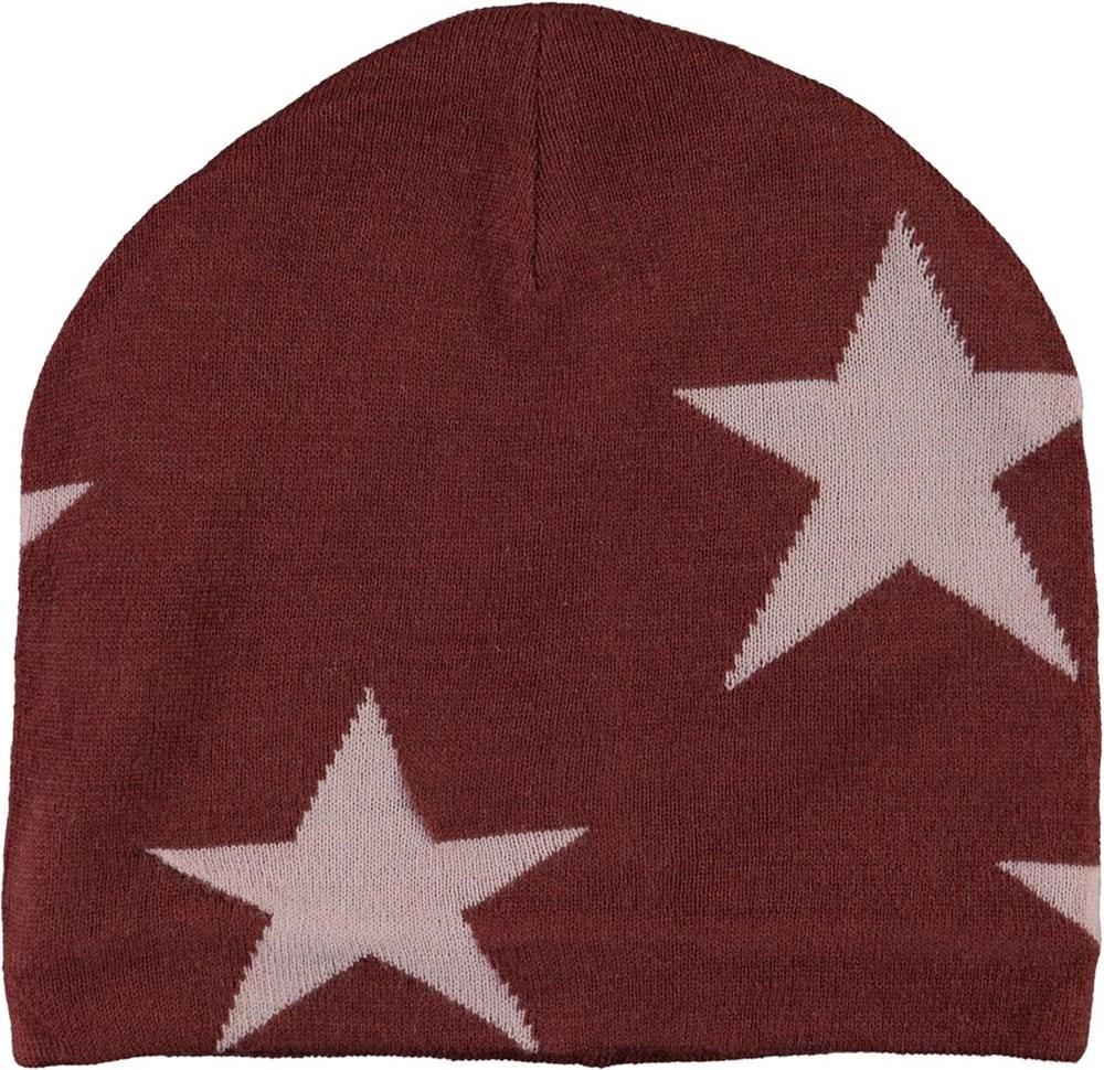 Colder - Rosewood - Mörkröd mössa med stjärnor.