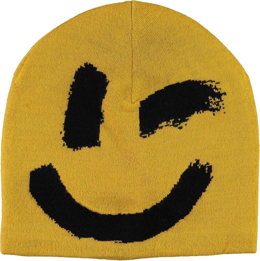 Kenzie - Nugget Gold - Gul mössa med smiley.