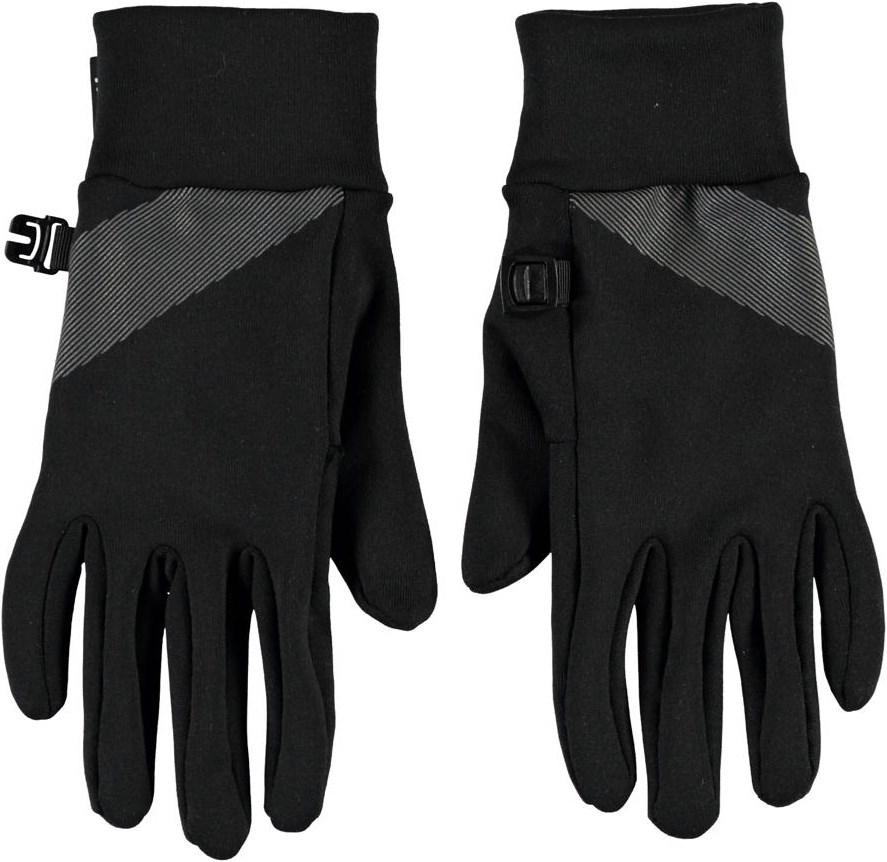 Maddock - Black - Svarta fingervantar med reflexer