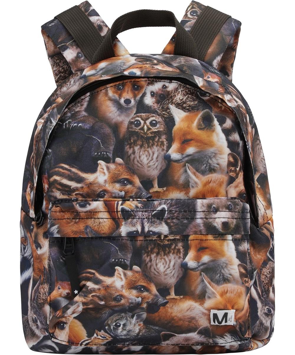 Backpack - Forest Animals - Återvunnen ryggsäck med djur