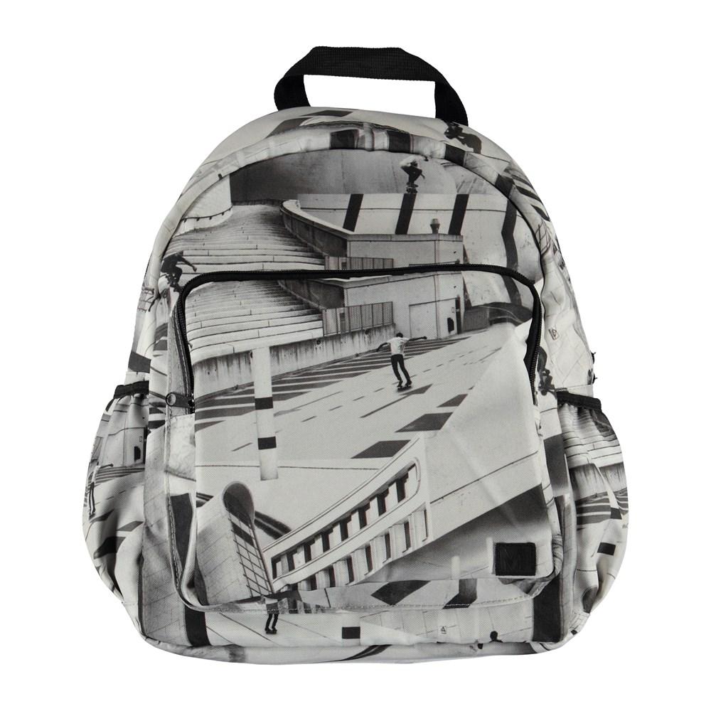 Big backpack - City Skate - Stor ryggsäck med skateboardåkar tryck.