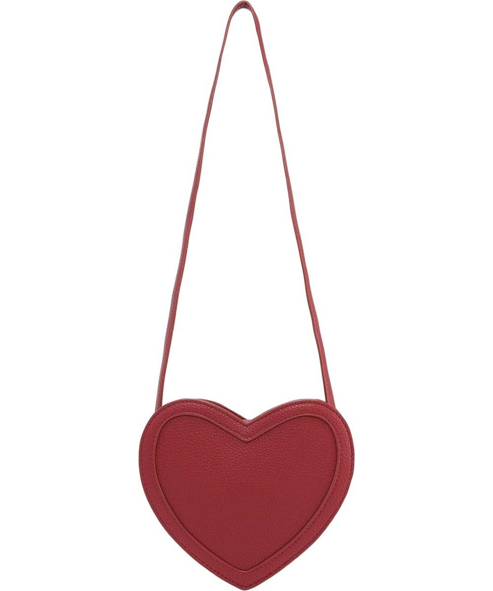 Heart bag - Bossa Nova - Röd hjärtformad  crossbody väska