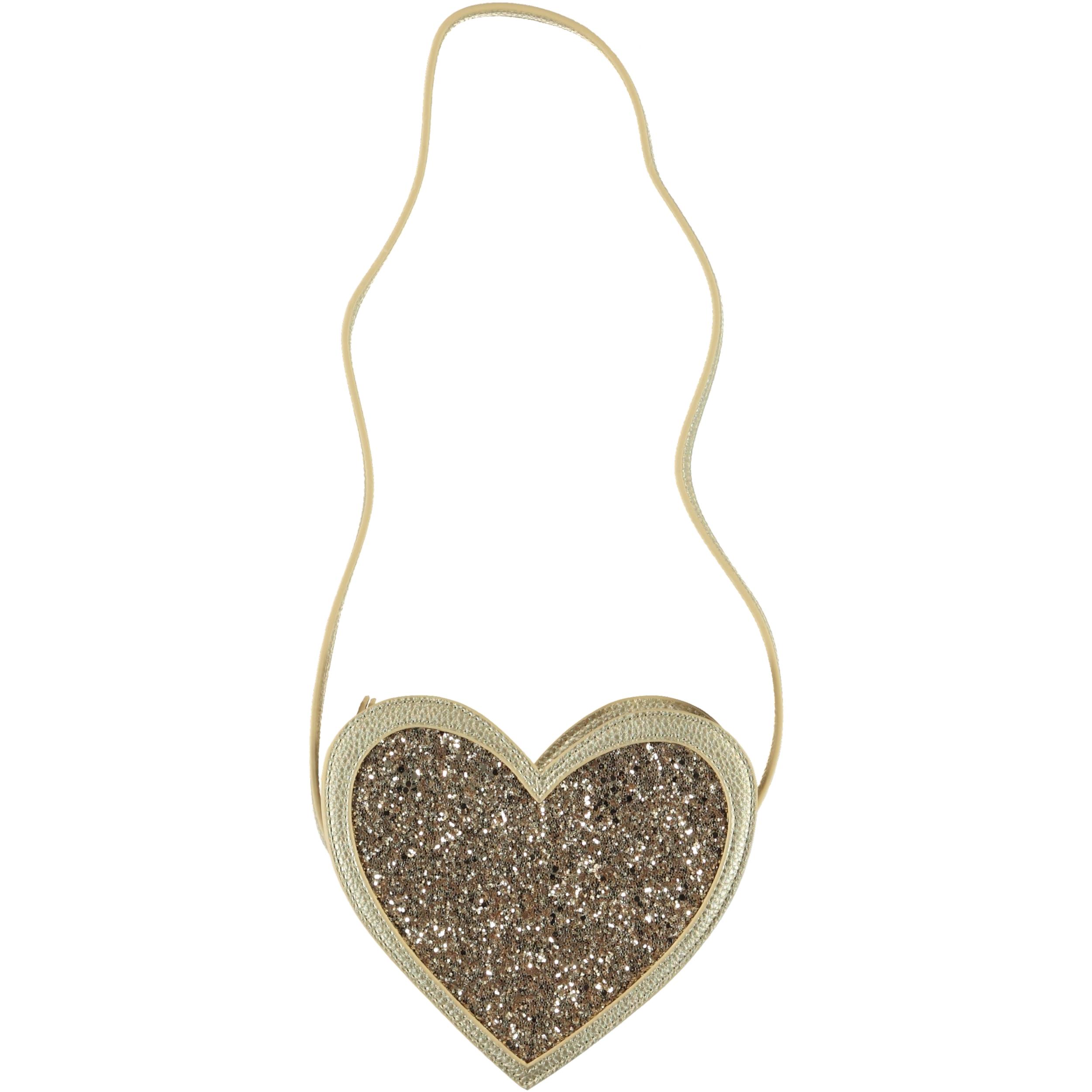 Heart Bag Gold Glitter