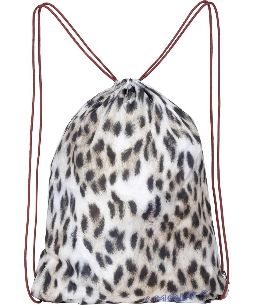 Kit bag - Snowy Leo Fur - leopardmönstrad gymnastikväska