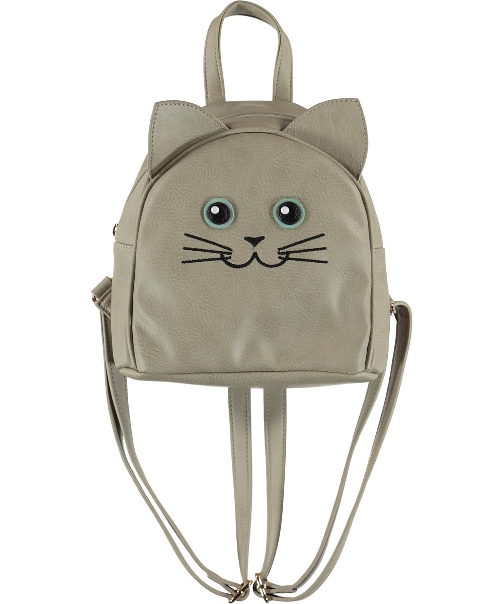Kitty Backpack - Dappled Grey - Katt ryggsäck med öron.