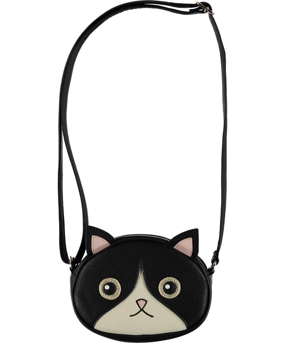 Kitty Bag - Black - Cross body väska med katter.
