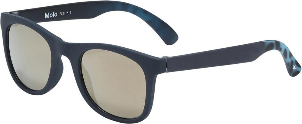 Smile - Deep Blue - Donkerblauwe klassieke zonnebril