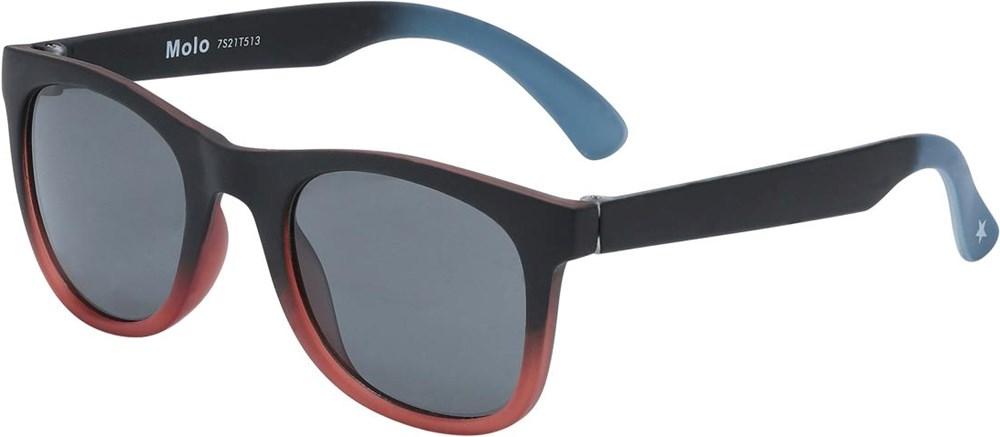 Smile - Pickup - Zwarte zonnebril met rode onderkant