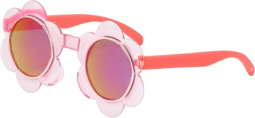 Soleil - Light Pink - Roze zonnebril in een bloemenvorm
