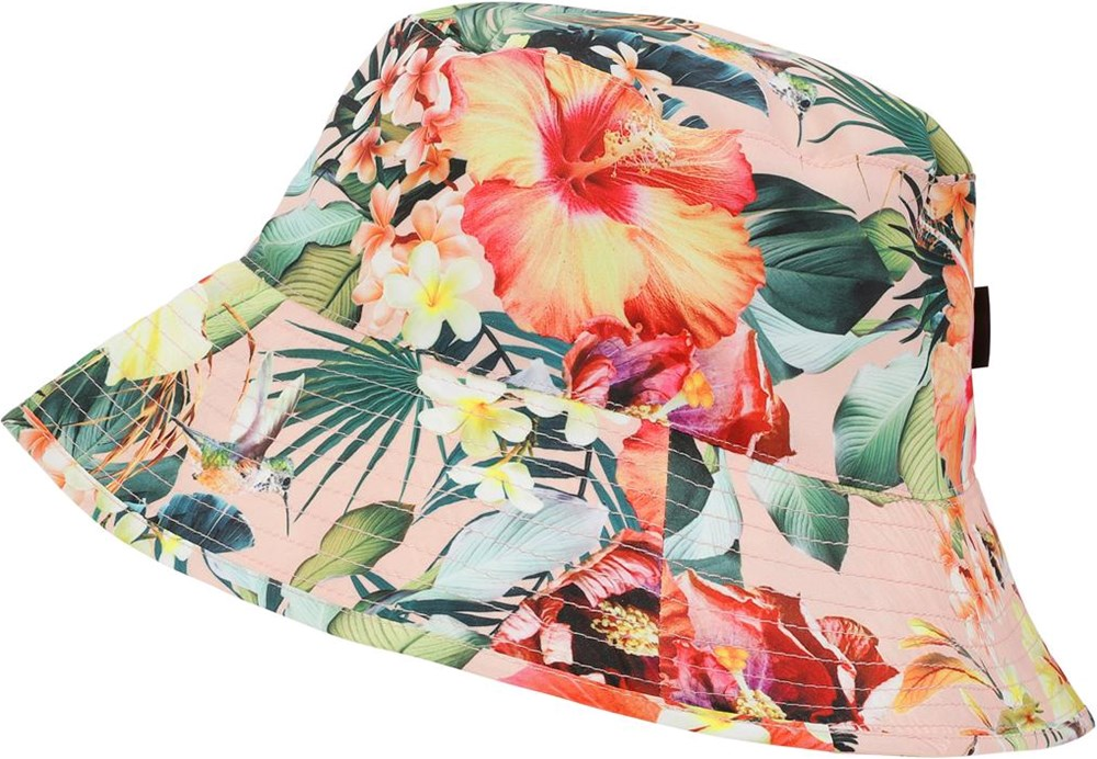 Nadia - Hawaiian Flowers - UV bucket hat met bloemenprint