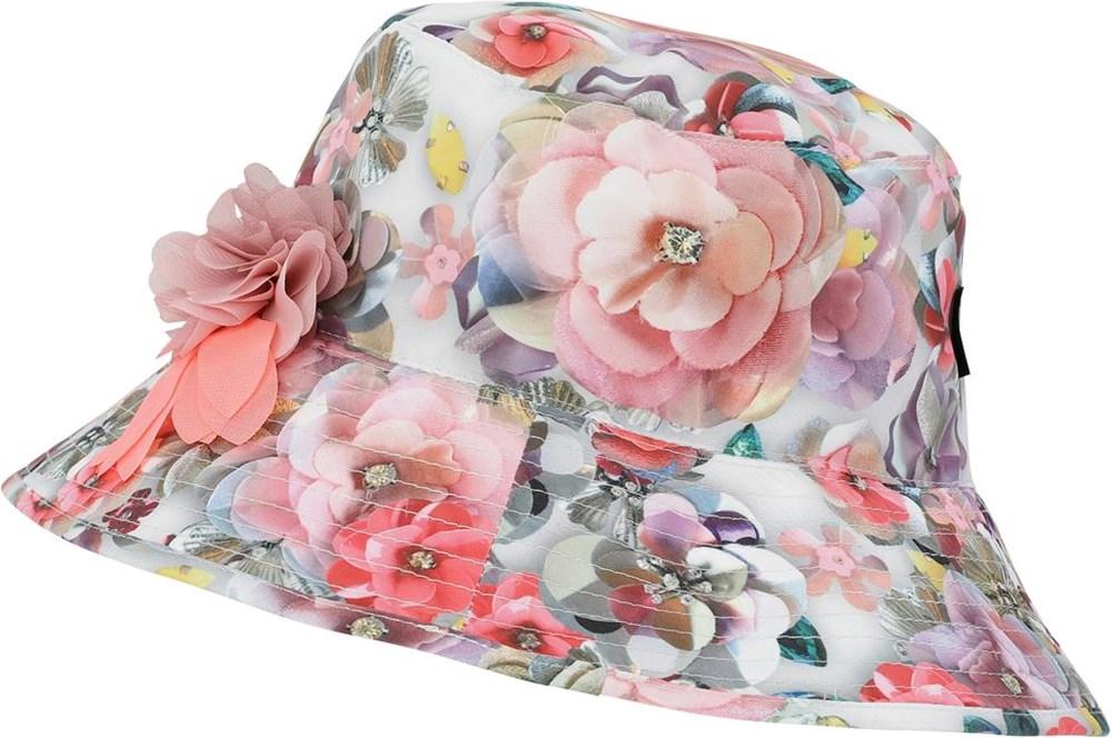 Nadia - Sequins Flowers - UV bucket hat met bloemenprint