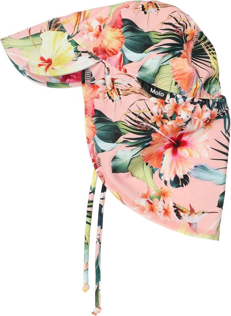 Nando - Hawaiian Flowers - UV baby zonnehoed met bloemen