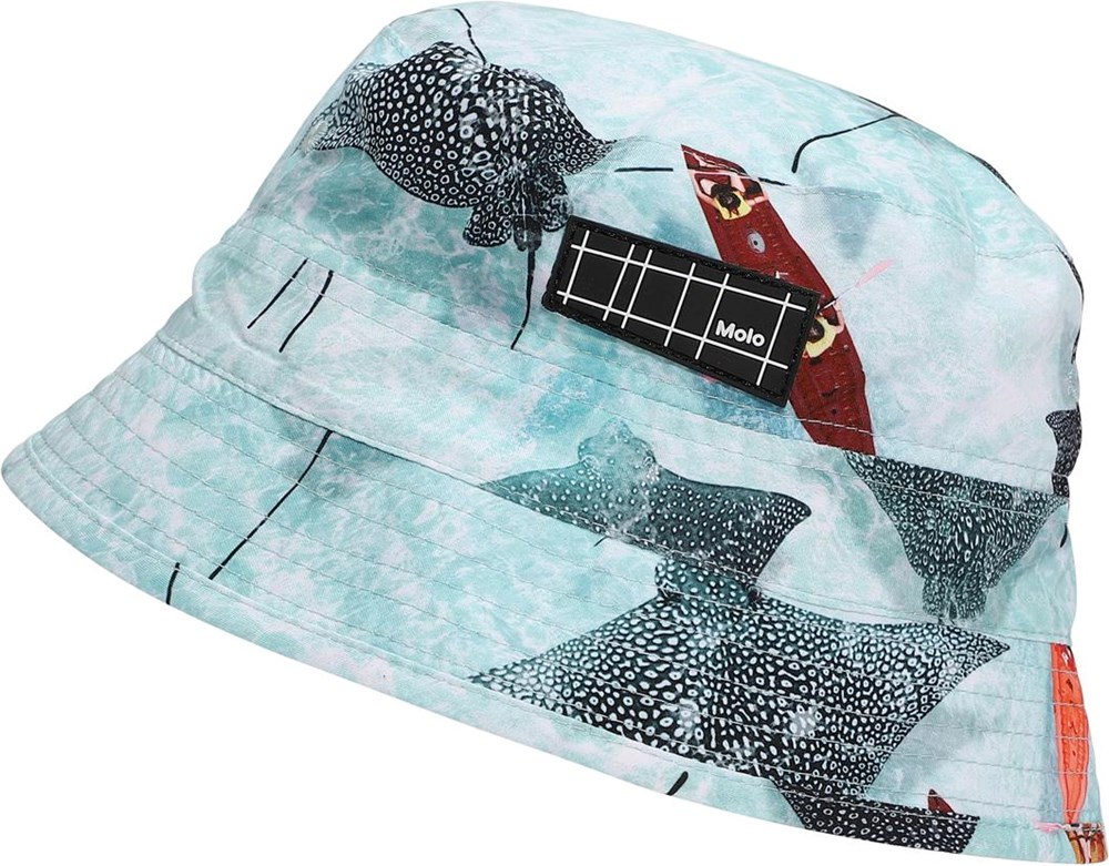 Niks - Hawaiian Ocean - UV bucket hat met pijlstaartroggen print