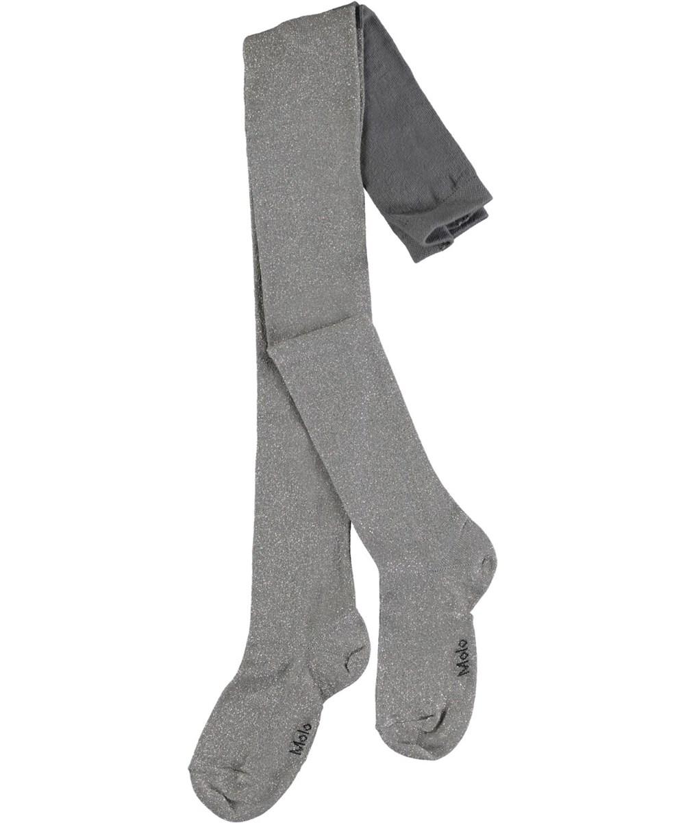 Glitter tights - Silver - Zilverkleurige panty met glitter