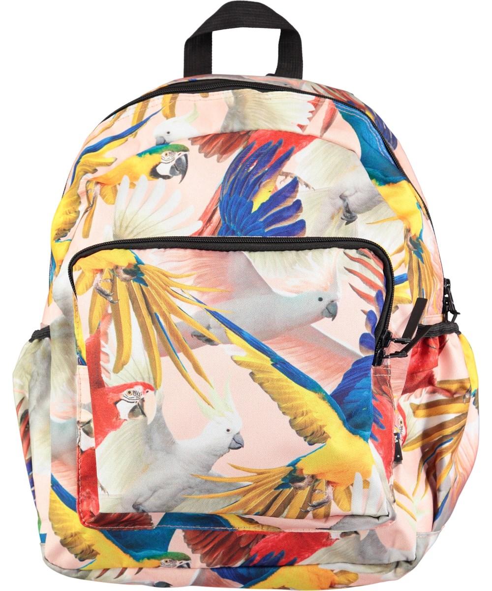 8362510225e Big Backpack - Parrots - Ruime rugzak met digitale papegaaiprint - Molo