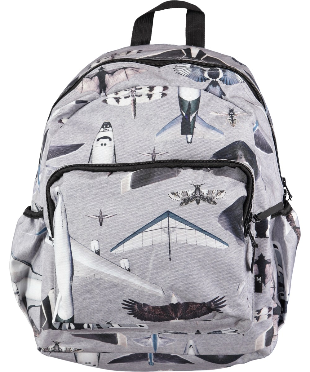 49b052d1e5f Big Backpack - Planes And Birds - Ruime rugzak met digitale vliegtuig- en  vogelprint