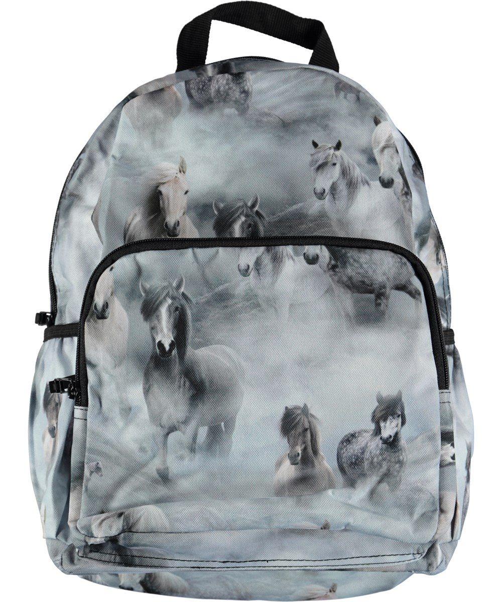 fdfe6622eb3 Big Backpack - Pony Jersey - Ruime rugzak met paardenprint - Molo