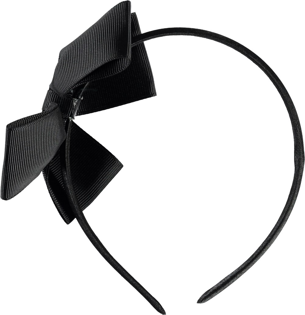 Fancy Bow Hairband - Black - Black bow hairband