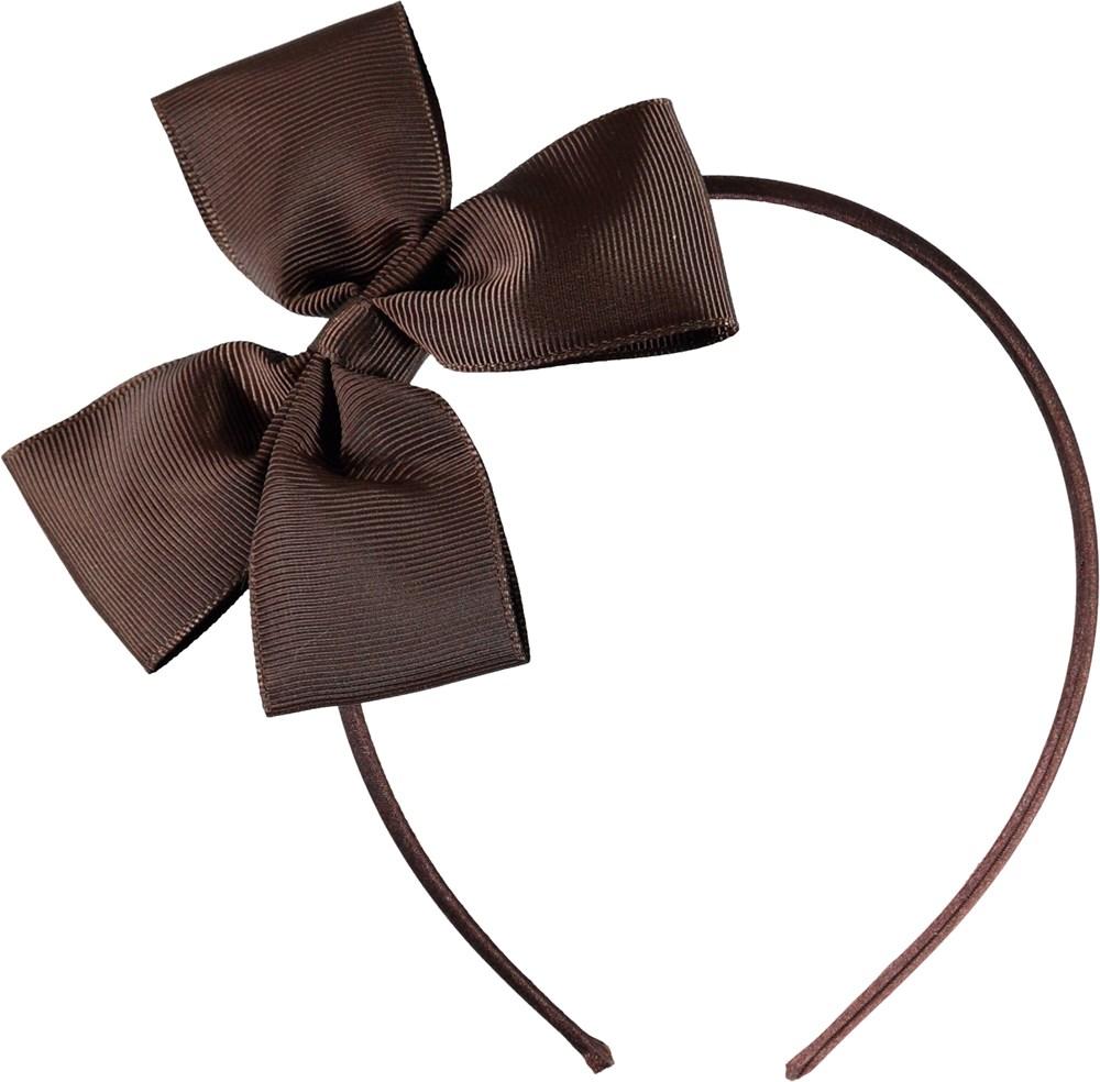 Fancy Bow Hairband - Chocolate Truffle - Brown bow hairband