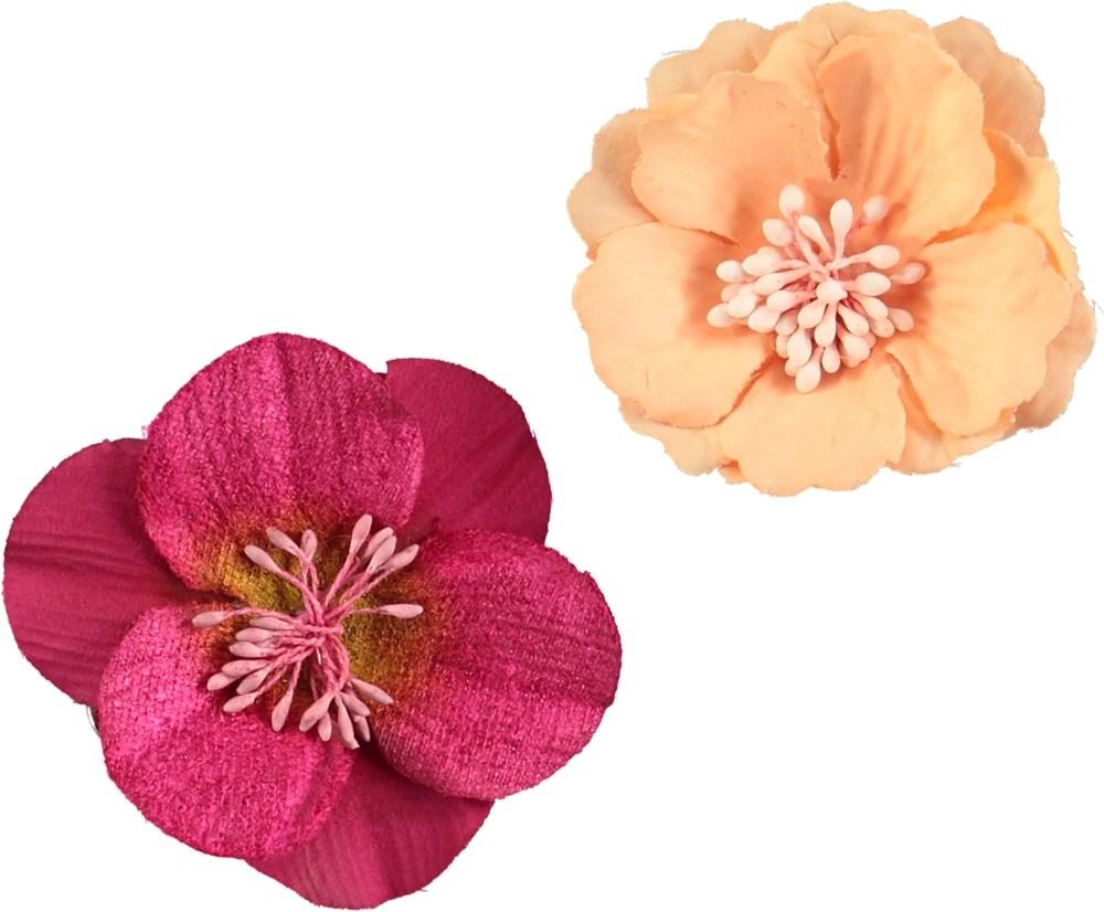 Flower Hair Clips Peach Puff Hair Clips With Flowers Molo