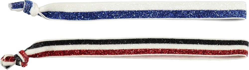 Mixed Hairbands - Glitter Stripes - Striped hairbands with glitter
