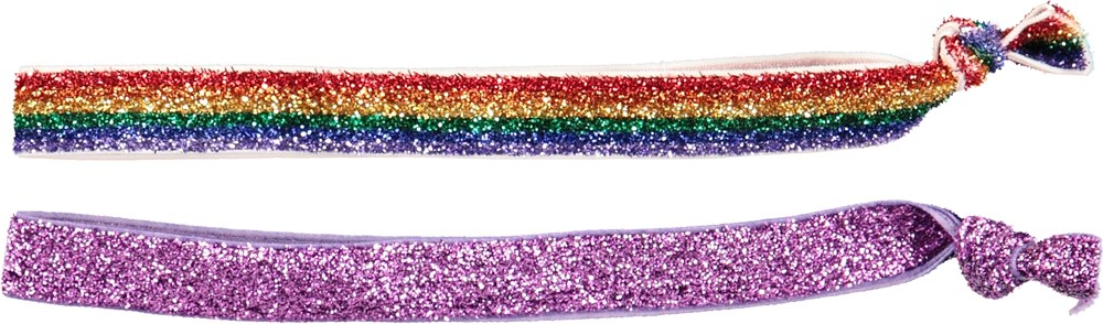 Mixed Hairbands - Multiglitter - Striped hairbands with glitter