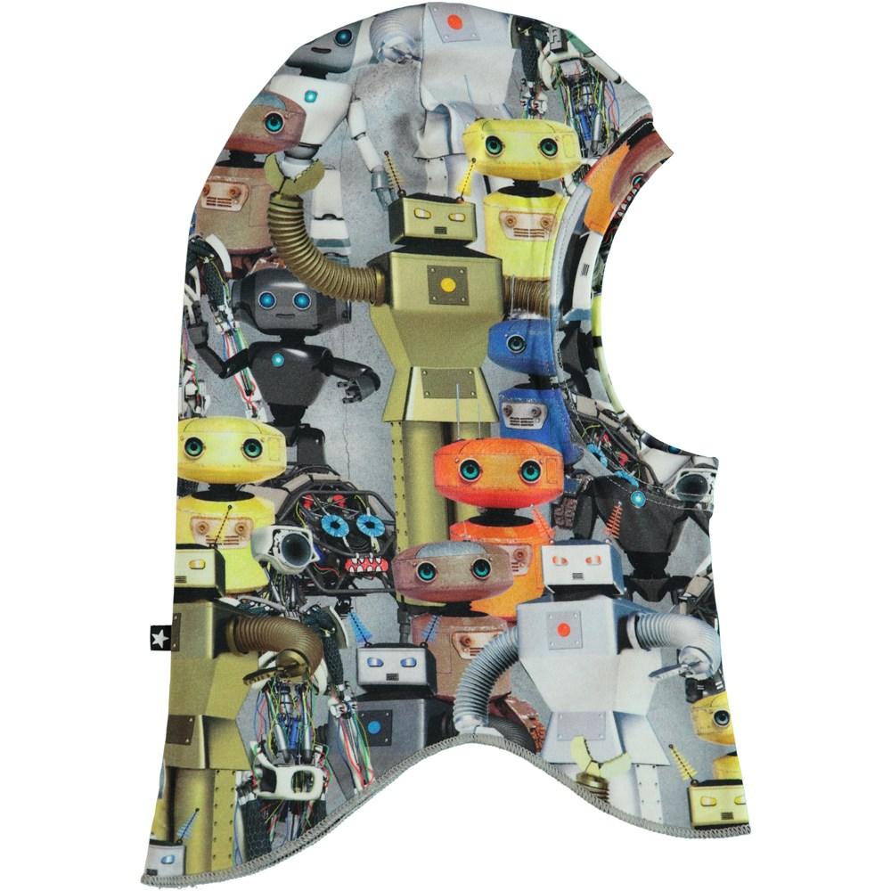 Nate - Robots - Ski mask with robot print.