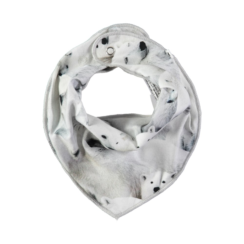 Nayela - Polar Bear Jersey - Bandana-inspired bib with digital polar bear print
