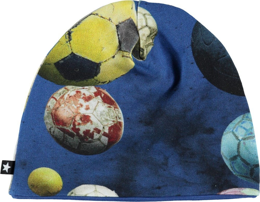 Ned - Cosmic Footballs - Baby hat with footballs.