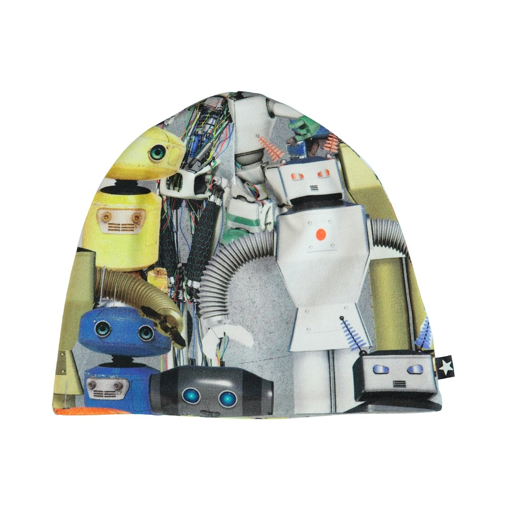Ned - Robots - Hat with robot print.