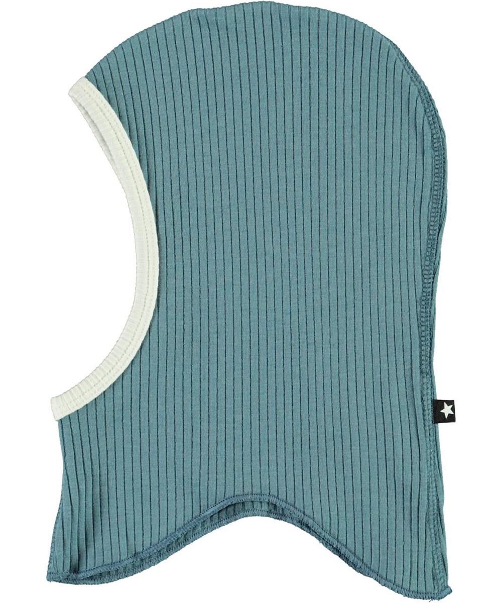 Nedi - Aero - Light blue baby ski mask in rib