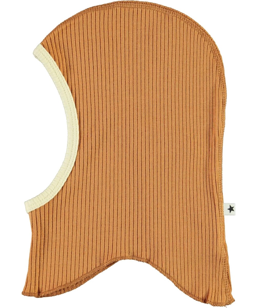 Nedi - Deer - Brown baby ski mask in rib