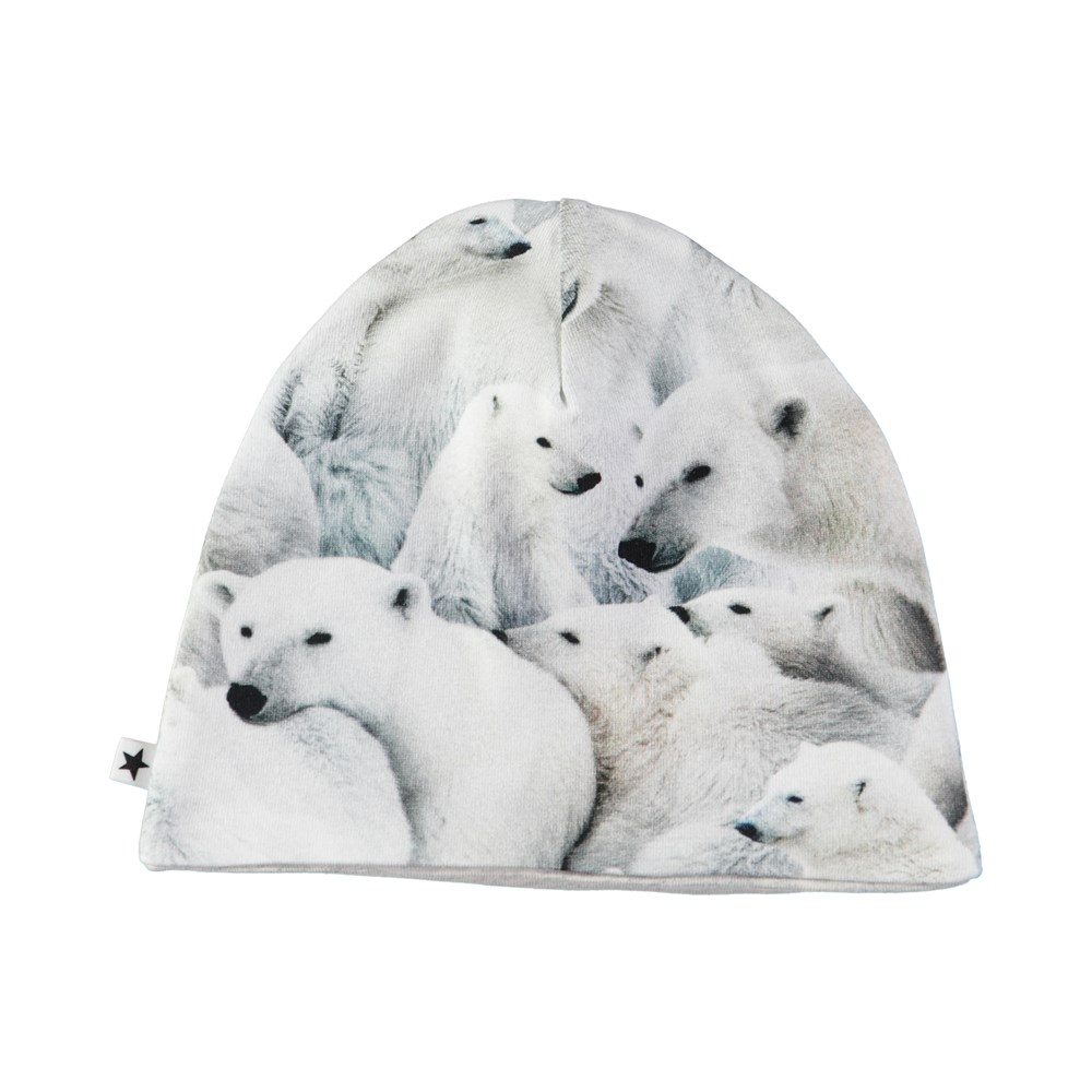 Nedine - Polar Bear Jersey - Simple hat with digital polar bear print