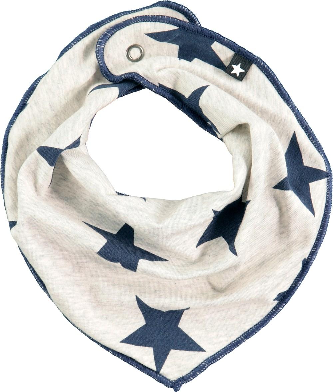 Nick - Indigo Star - Bandana-inspired bib with blue stars
