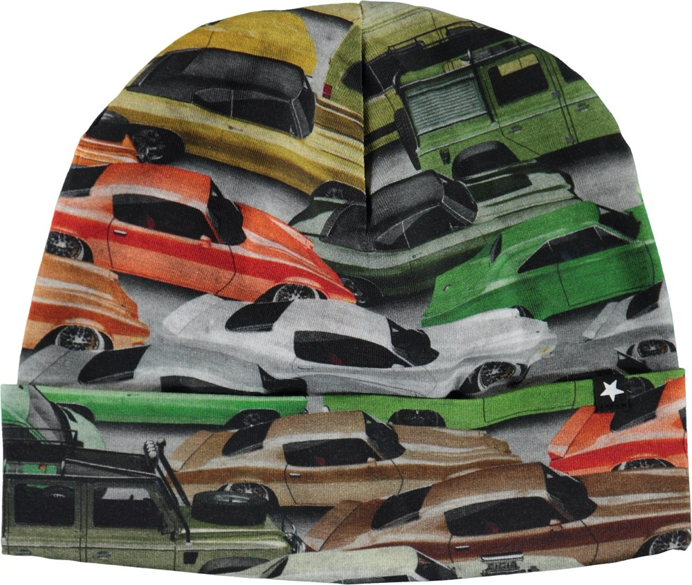 Nico - Cars - Organic hat with cars